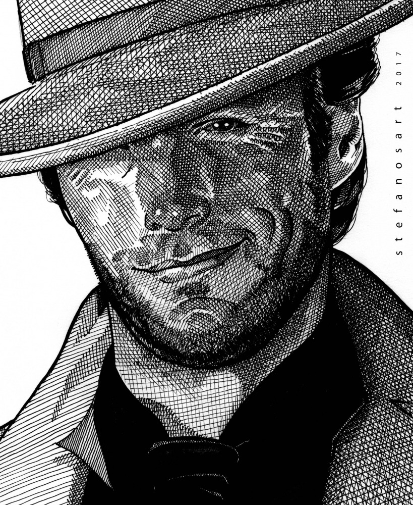 Clint Eastwood by Stefanosart
